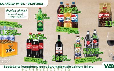 SLAVSKA AKCIJA od 04.05.2021. do 06.05.2021.